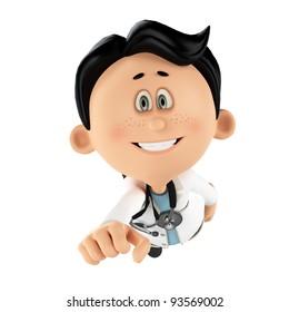 super doctor smiling