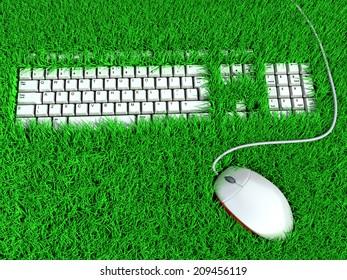super ergonomic keyboard. conceptual illustration
