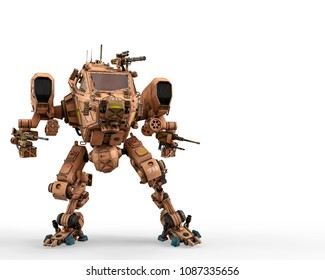 super war machine 3d illustration