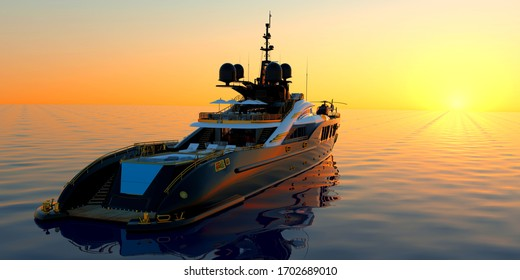 Super Yacht Luxury Yachting 3D image