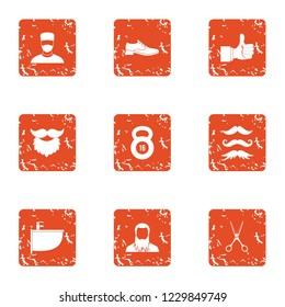 Superb icons set. Grunge set of 9 superb icons for web isolated on white background