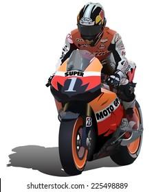 Ilustraciones Imágenes Y Vectores De Stock Sobre Carrera De Motos