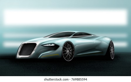Supercar design concept