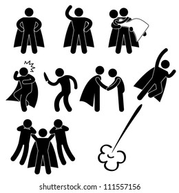Superhero Hero Rescue Help Protect Girl Fly Icon Symbol Sign Pictogram