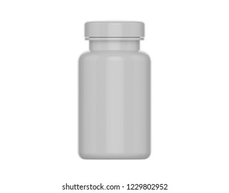 Supplement and Medical Pills Bottle Mockup