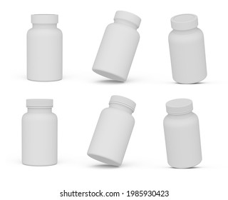 Supplement Sports Nutrition Bottle With Neck Band Isolated 3D Rendering
