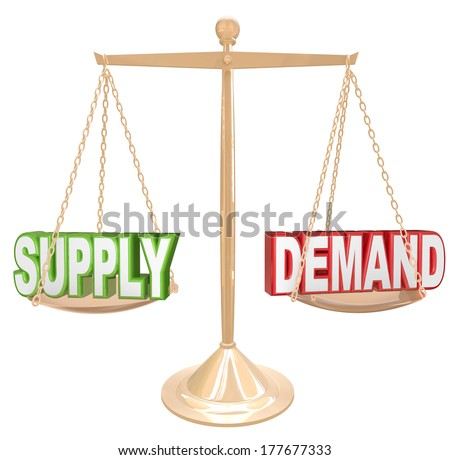 supply demand scale free market economy stock illustration 177677333