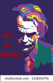 Surabaya, Indonesia - February 20 2019 : Joker in wpap for your wallpaper or decoration