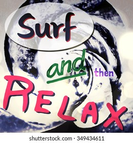 Surf and then relax abstract card cover