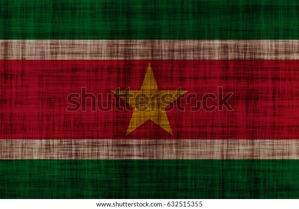 Suriname flag grunge background. Background for design in country flag