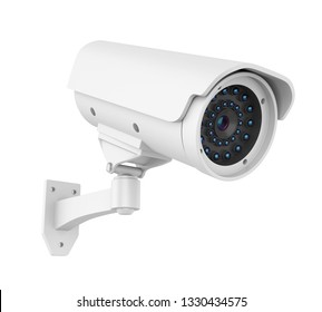 Surveillance CCTV Security Camera Isolated. 3D rendering