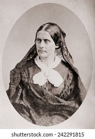 Susan B. Anthony (1820 _1906), American women's rights leader , ca. 1860.