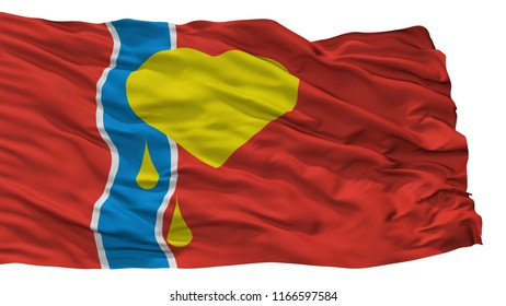 Susuman City Flag, Country Russia, Magadan Oblast, Isolated On White Background, 3D Rendering