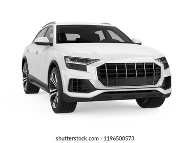 SUV Car Isolated. 3D rendering