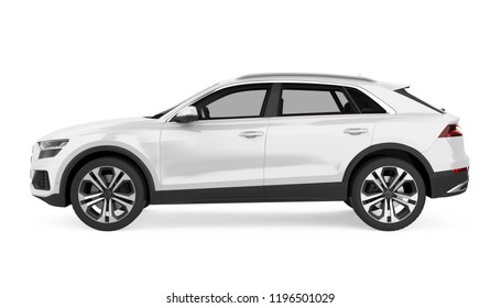 SUV Car Isolated (side view). 3D rendering