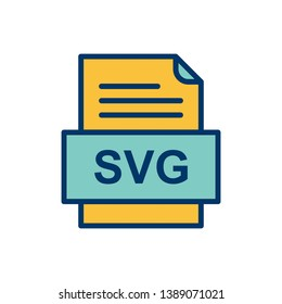 SVG File Document Icon In Trendy Style Isolated Background