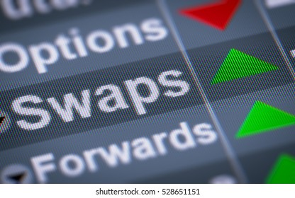 A swap is a derivative in which two counterparties exchange cash flows of one party's financial instrument for those of the other party's financial instrument.