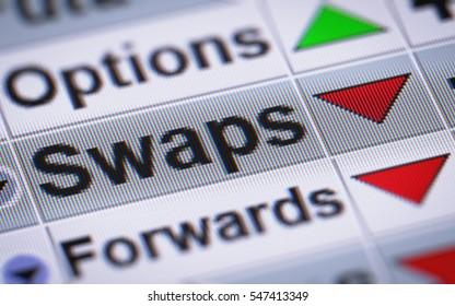 Bei einem Swap handelt es sich um ein Derivat, bei dem zwei Gegenparteien Zahlungsströme des Finanzinstruments einer Partei gegen Zahlungsströme des Finanzinstruments der anderen Partei tauschen.