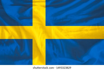 Sweden flag illustration. Perfect for background or texture.