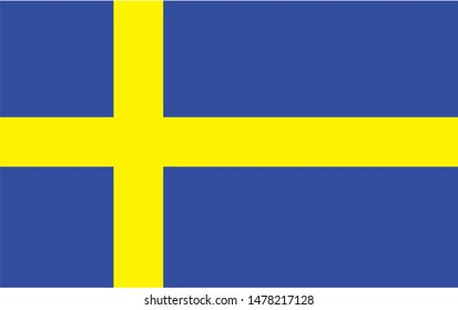 Sweden national flag Official state symbol of country.
