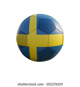 sweden soccer ball isolated on white