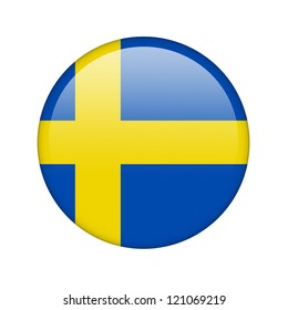 The Swedish flag in the form of a glossy icon.