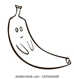 Banana Clipart Black And White 842*1001 transprent Png Free Download -  Plant, Food, Yellow. - CleanPNG / KissPNG