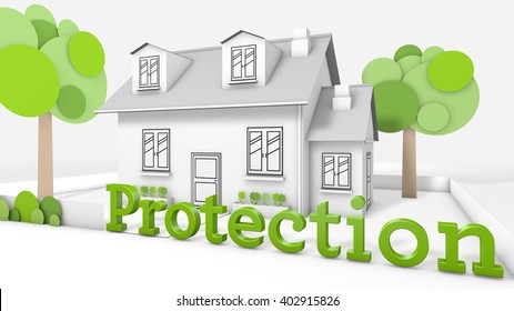 Sweet family house  with the title protection