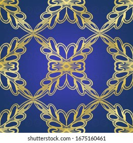 Sweet Gatsby style Tile. Borderless Dashiki Kitchen tile. Gilded Indigo color. Art Deco Filigree Tile. Glitter Free hand Arabesque. Art Deco.