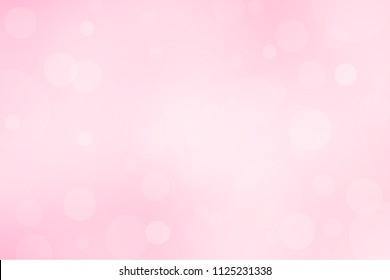 Sweet pink and white bokeh backgroud abstract ligh