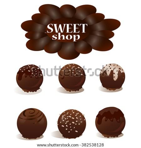 b205e6e3211b SWEET SHO Pchocolate Candy On White Background Stock Illustration ...