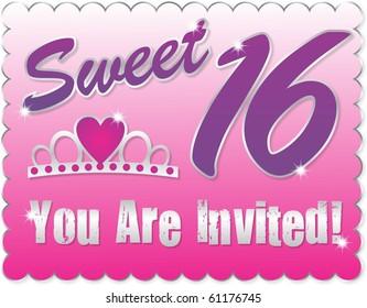 Sweet  Sixteen Greeting CArd