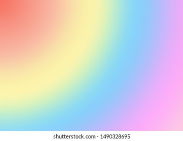 Sweet soft multicolor background for portrait. Illustration drawing in pastel tones of rainbow colors