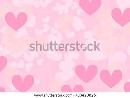 sweet valentine card heart bokeh background stock illustration
