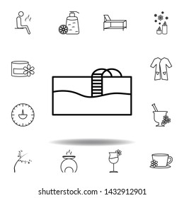 swimming pool outline icon. Detailed set of spa and relax illustrations icon. Can be used for web, logo, mobile app, UI, UX