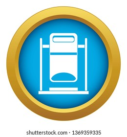 Swinging trashcan icon blue isolated on white background for any design