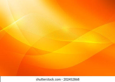swirl and curve on yellow to orange gradient background