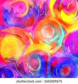 A swirly digital watercolor paint background effect.