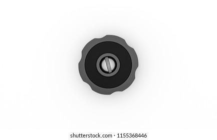 Switch black star form on white background 3d illustration