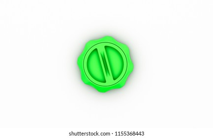 Switch green on white background 3d illustration