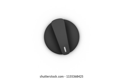 Switch on off black on white background 3d illustration