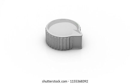 Switch silver on white background 3d illustration