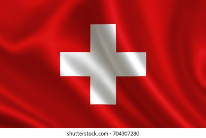"Switzerland flag. A series of ""Flags of the world."" ( The country - Switzerland flag )"