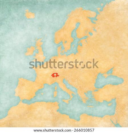 Royalty Free Stock Illustration Of Switzerland Swiss Flag On Map