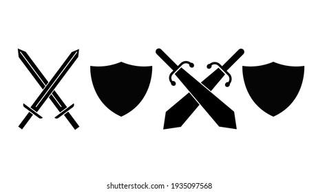 Sword weapon logo template illustration design