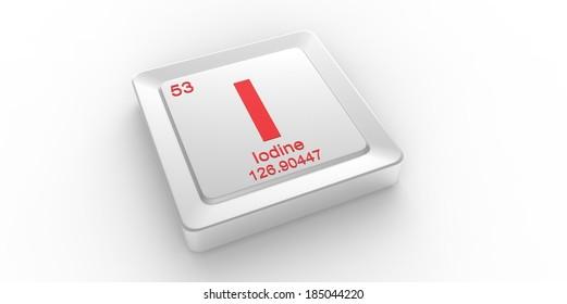 Symbol 53 Material Iodine Chemical Element Stock Illustration