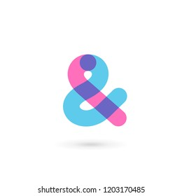 Symbol & and ampersand symbol logo icon design template elements