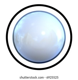 Symbol Ball as Icon with reflection in a comic style