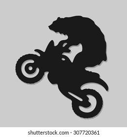 Symbol Biker Bear