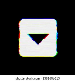 Symbol caret square down has defects. Glitch and stripes